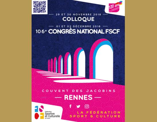 106EME CONGRES NATIONAL FSCF ET COLLOQUE SCIENTIFIQUE